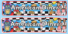 American Diner Role Play Banner