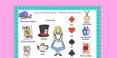 Alice in Wonderland Word Mat Polish