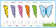 * NEW * Double the Butterfly Spots (Minibeasts) Activity Sheets
