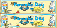 Pancake Day Display Banner Arabic Translation