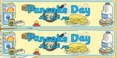 Pancake Day Display Banner Arabic Translation