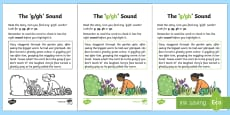 * NEW * NI Linguistic Phonics Stage 5 and 6 Phase 3b, 'g, gh' Sound Activity Sheet