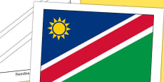 Namibia Flag Display Poster