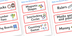 Jellyfish Themed Editable Maths Area Resource Labels