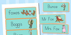 Word Cards to Support Teaching on Fantastic Mr. Fox
