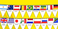 Rio Olympics 2016 Country Flags Bunting Polish