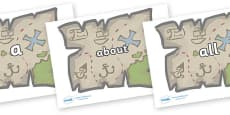 100 High Frequency Words on Treasure Maps