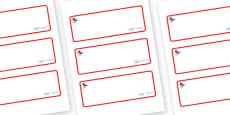 Ant Themed Editable Drawer-Peg-Name Labels (Blank)