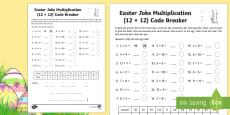 Easter Joke Multiplication (Up to 12 x 12) Code Breaker Activity Sheet