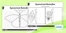 PlanIt Y4 Properties of Shapes Symmetrical Butterflies Home Learning