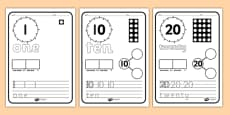 Number Writing Activity Sheets