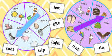 Vowel Manipulation Spinner Game