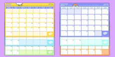 Academic Year Monthly Calendar Planning Template 2016-2017 Polish Translation