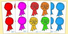 Australia - Editable Award Rosettes