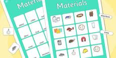 Materials Vocabulary Matching Mat