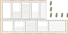 Hawthorn Tree Themed Page Borders