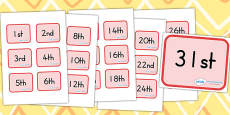 Calendar Dates Labels