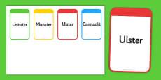 Provinces of Ireland Flashcards