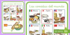 Póster DIN A2: Las comidas del mundo