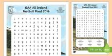 Dublin v Mayo GAA Football All Ireland Senior Championship Word Search