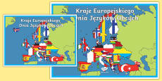 European Day of Languages A2 Display Poster Polish