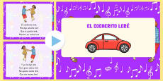 El cocherito Nursery Rhymes PowerPoint Spanish