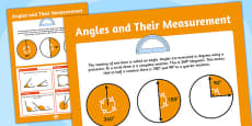 Large Angles and their Measurements Poster