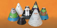 Halloween Cone Characters