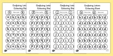 Confusing Letters Colouring Activity Sheets Pack