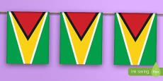 Guyana Flag Bunting