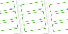 Pear Themed Editable Drawer-Peg-Name Labels (Blank)