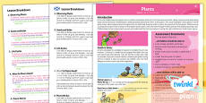 PlanIt - Science Year 2 - Plants Planning Overview CfE