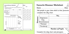 Favourite Dinosaur Pictogram Worksheet