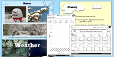 Different Types of Weather PowerPoint and Worksheets Teaching Pack