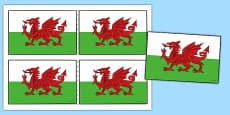 Welsh Handheld Flags