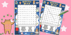 Word Search to Support Teaching on Biscuit Bear