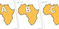 A-Z Alphabet on Africa