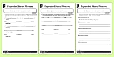 Expanded Noun Phrases Differentiated Activity Sheet Pack