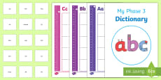 * NEW * Phase 3 Dictionary Activity Pack