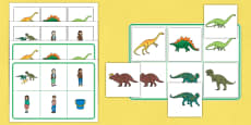 Matching Mat SEN to Support Teaching on Harry and the Bucketful of Dinosaurs