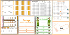 Orange Sight Words Resource Pack
