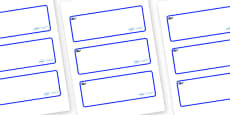 Blue Whale Themed Editable Drawer-Peg-Name Labels (Blank)