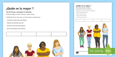 Who Is the Oldest? Activity Sheet - Spanish