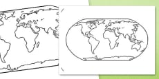 World Colouring Sheets