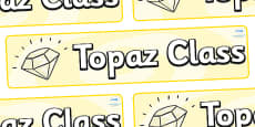 Topaz Themed Classroom Display Banner