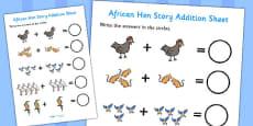 African Hen Story Addition Sheet