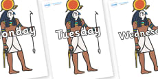 Days of the Week on Egyptian Figures
