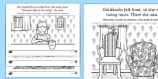 Goldilocks Story Colouring Sheets Polish Translation