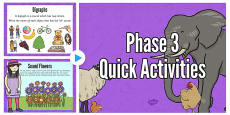 Phase 3 Quick Activities PowerPoint
