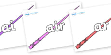 Phase 3 Phonemes on Wands